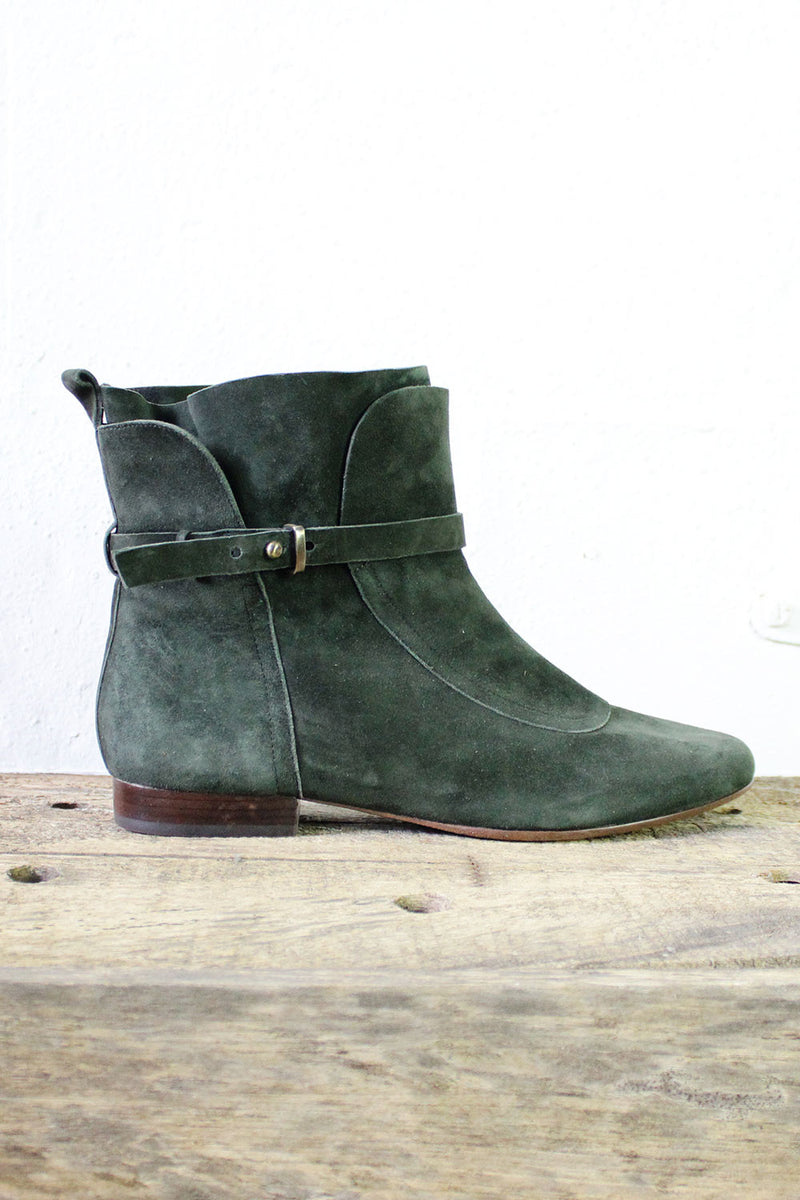 Forest Green Booties 8 1/2