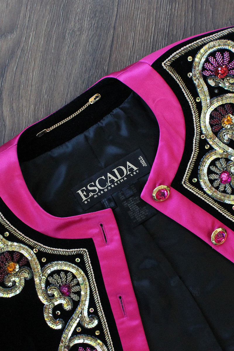 Escada Sequin Velvet Set M