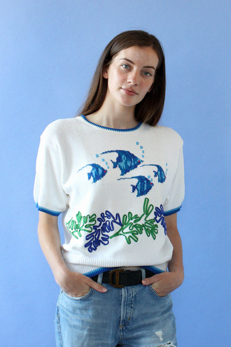 Angel Fish Sweater Tee M/L