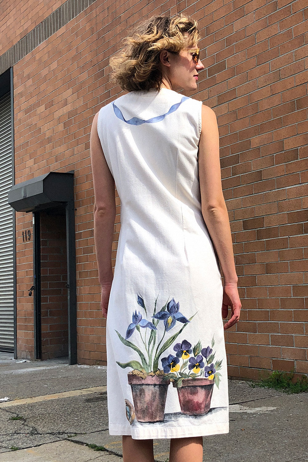 Painted Pansy Dress S/M