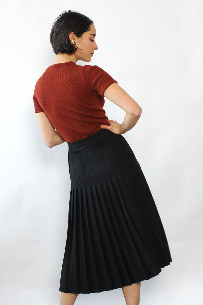Giorgio Sant'Angelo Knife Pleat Skirt M