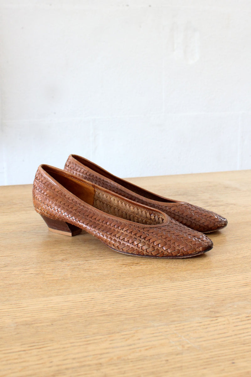 Picone Woven Leather Shoes 8 1/2