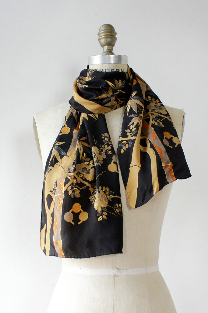 Camile Bamboo Painted Silk Scarf