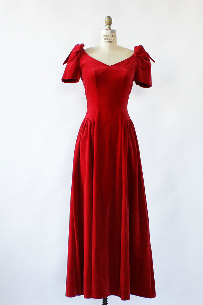 Scarlet Velvet Princess Dress M