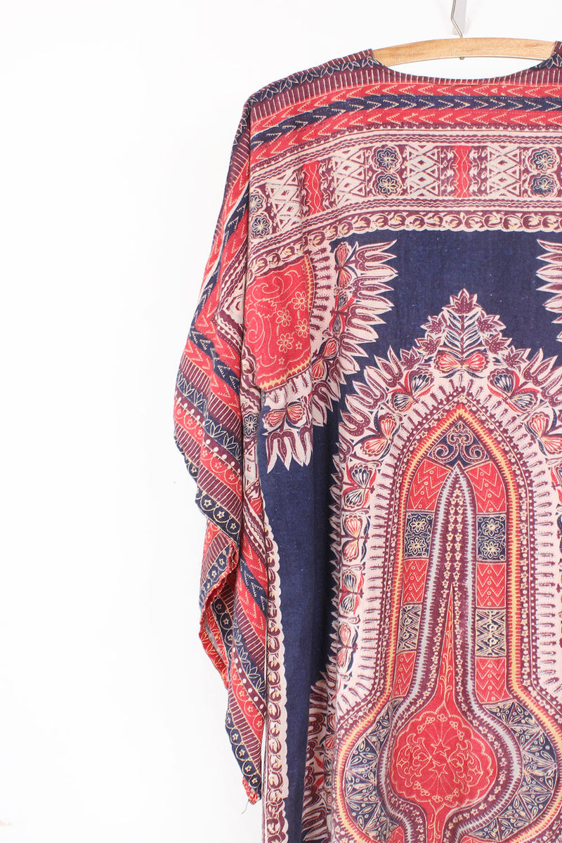 70s Dashiki Angel Sleeve Dress