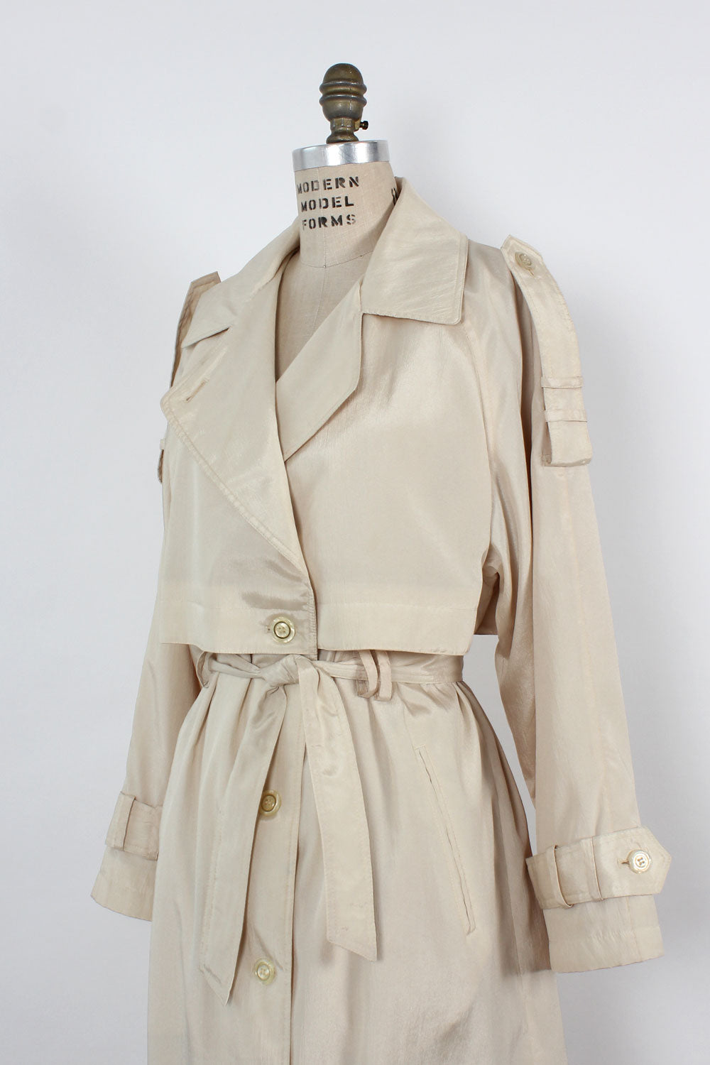 Pearly Lightweight Trench Coat S-L