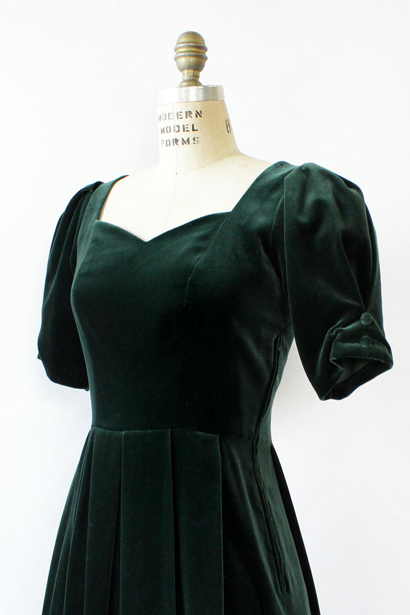 Laura Ashley Bow Back Velvet Dress S