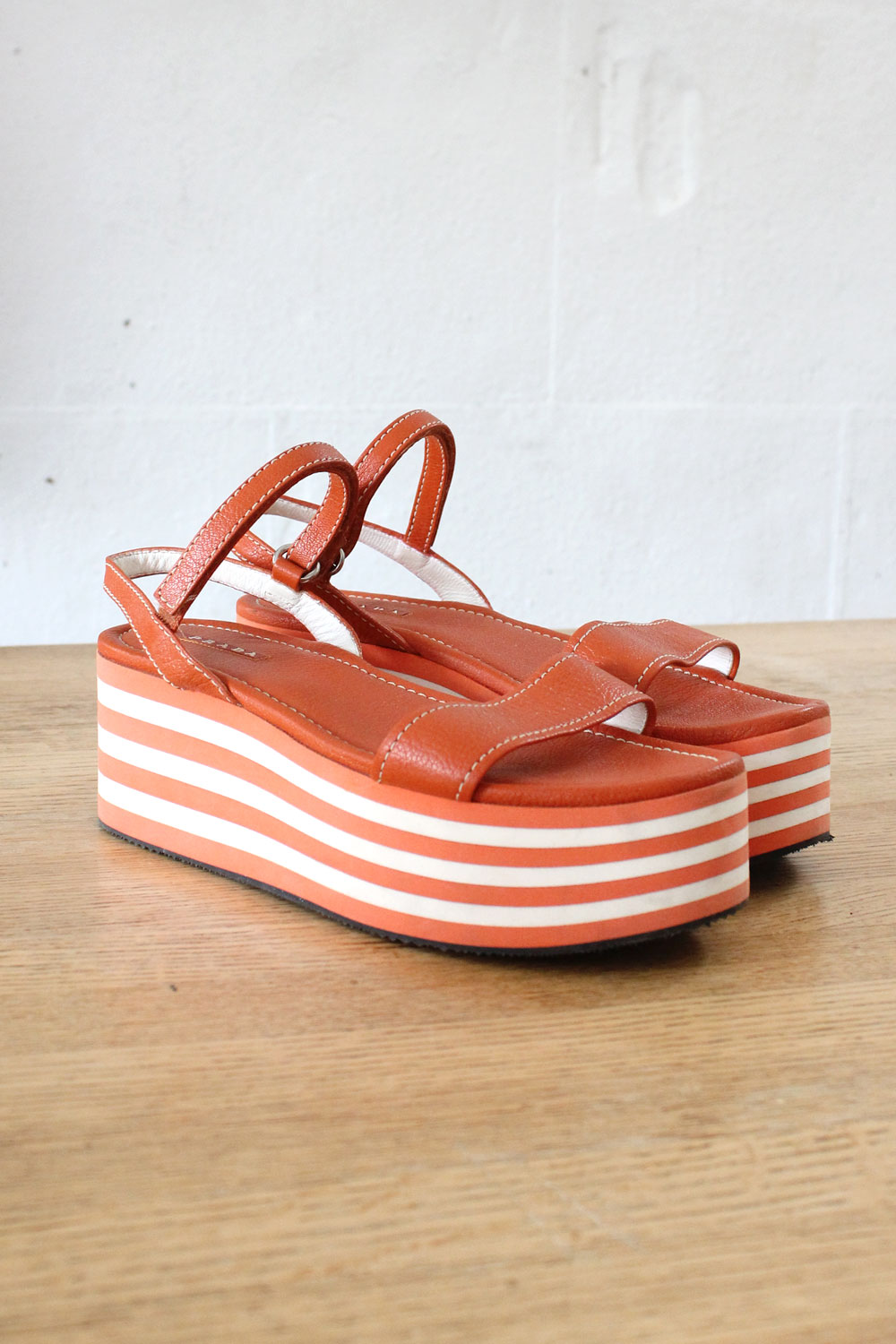 Prada Striped Flatforms 8