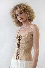 Embroidered Au Lait Bustier Top S