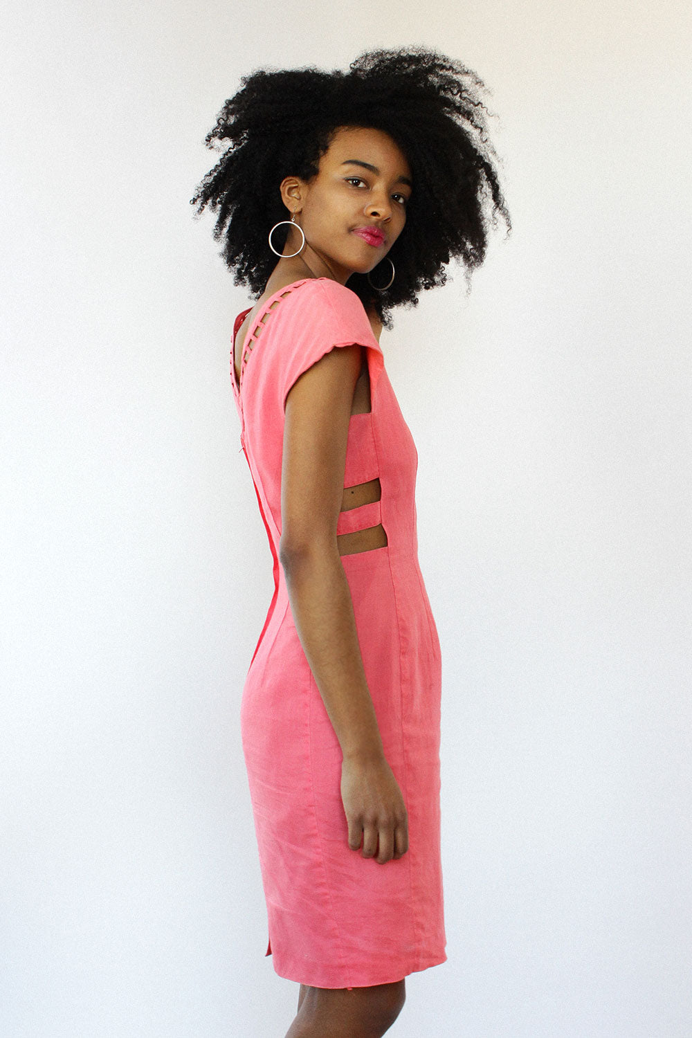 Bubblegum Lattice Dress S/M