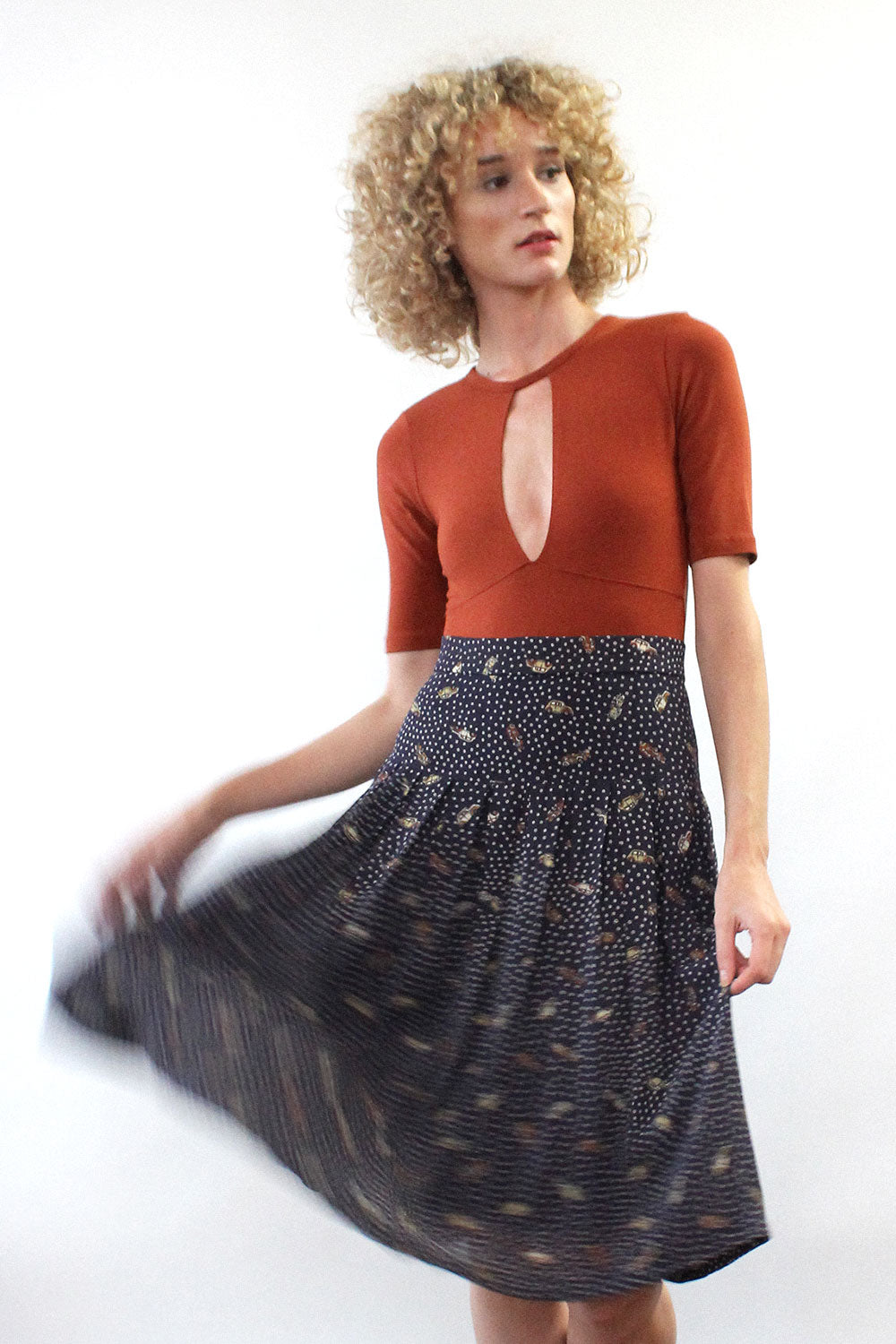 Novelty Auto Print Skirt S/M