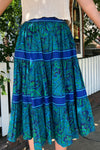 Blue Paisley Circle Skirt XS/S