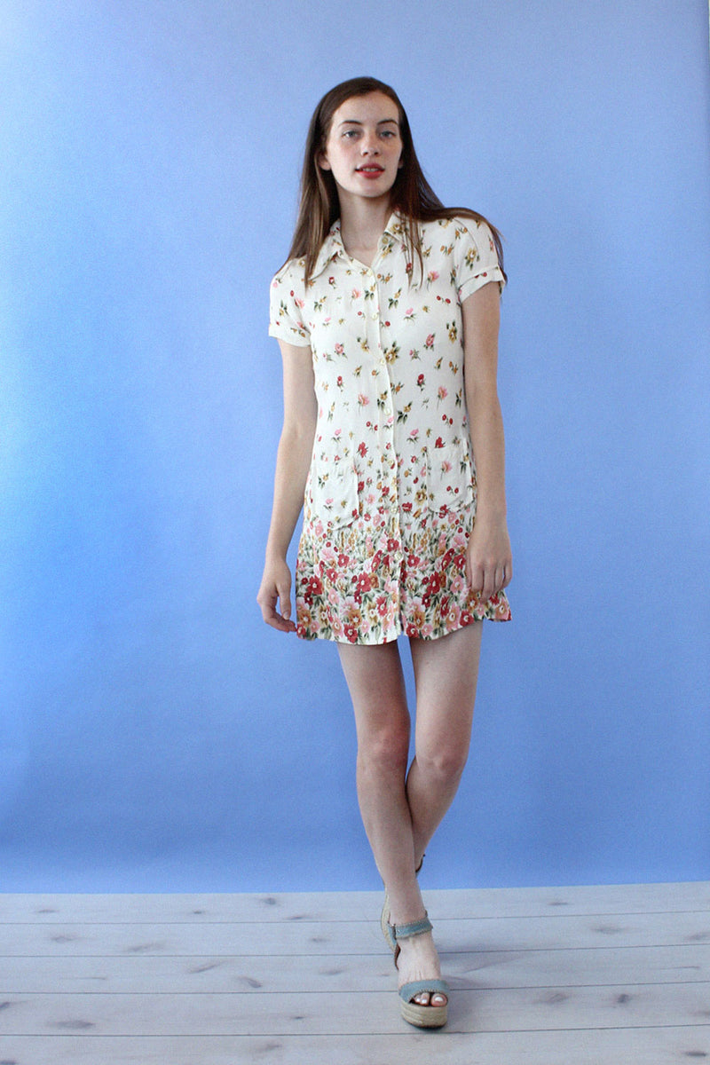 Falling Floral Collared Mini S
