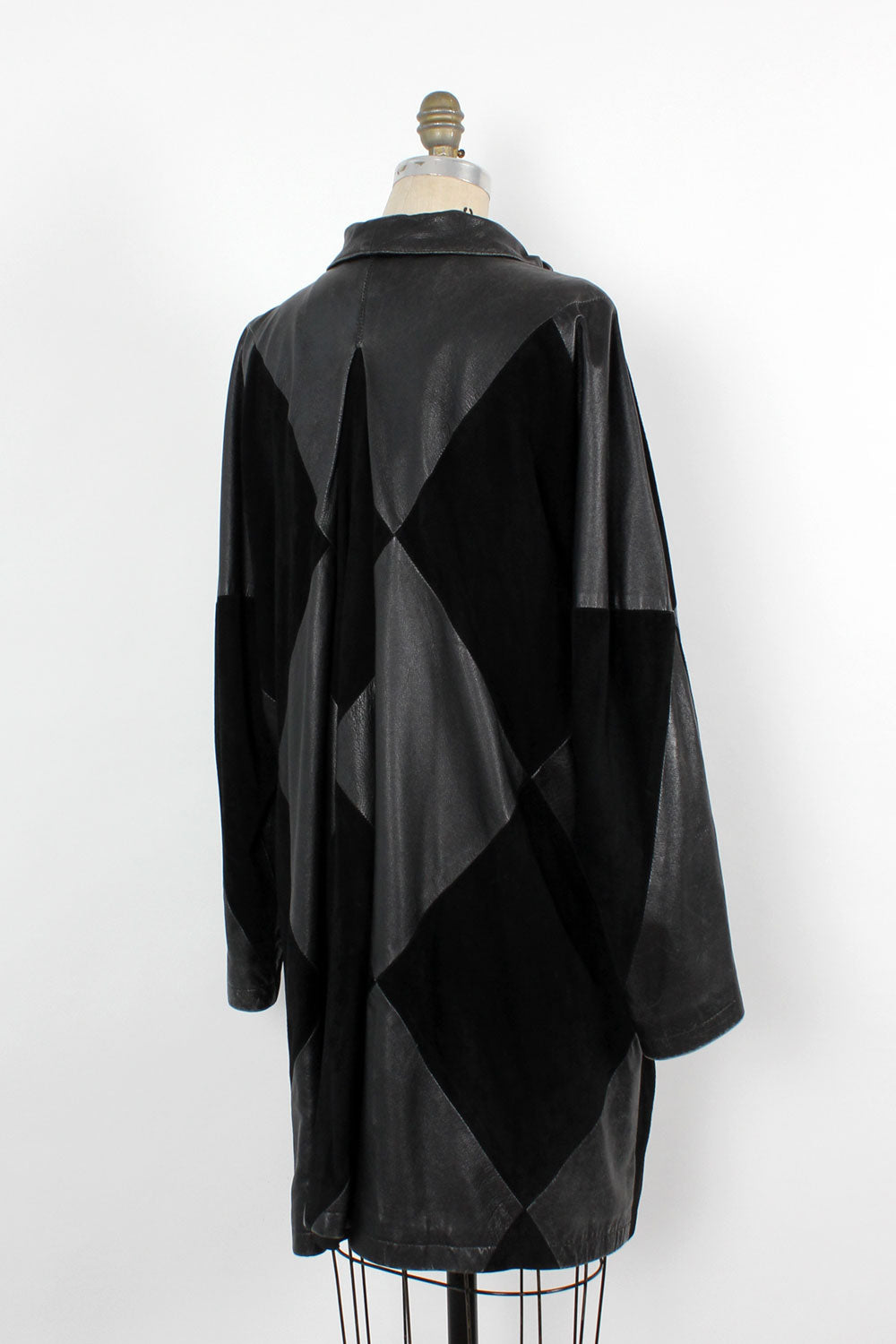 LAYAWAY • Harlequin Black Leather/Suede Flare Jacket S-L