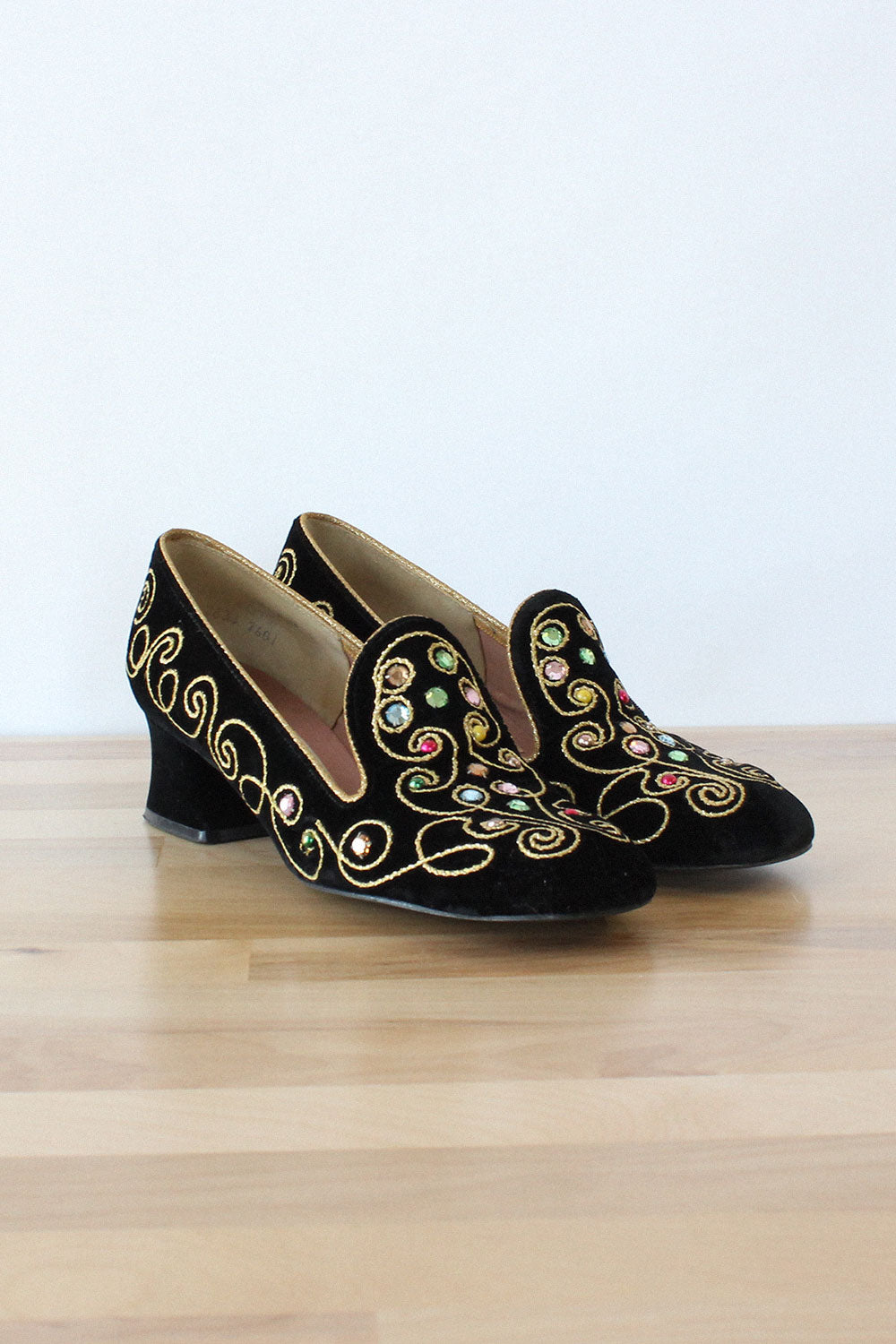 5c469a2235bb Embellished Heeled Loafers 6 – OMNIA