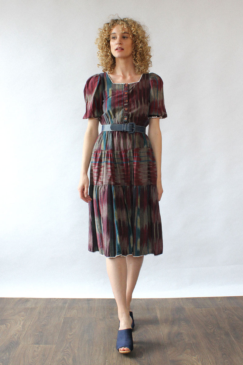 Ikat Peasant Dress XS/S