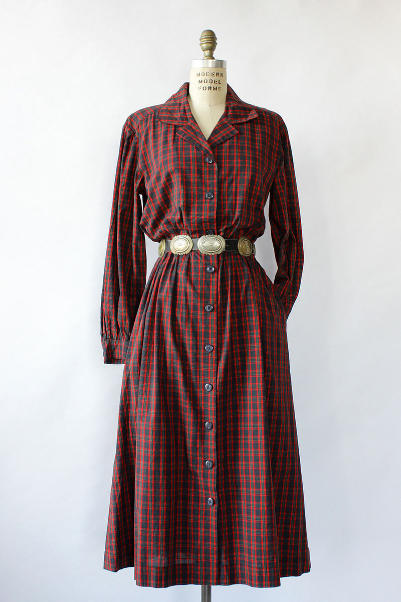 Scottish Plaid Shirtdress M/L