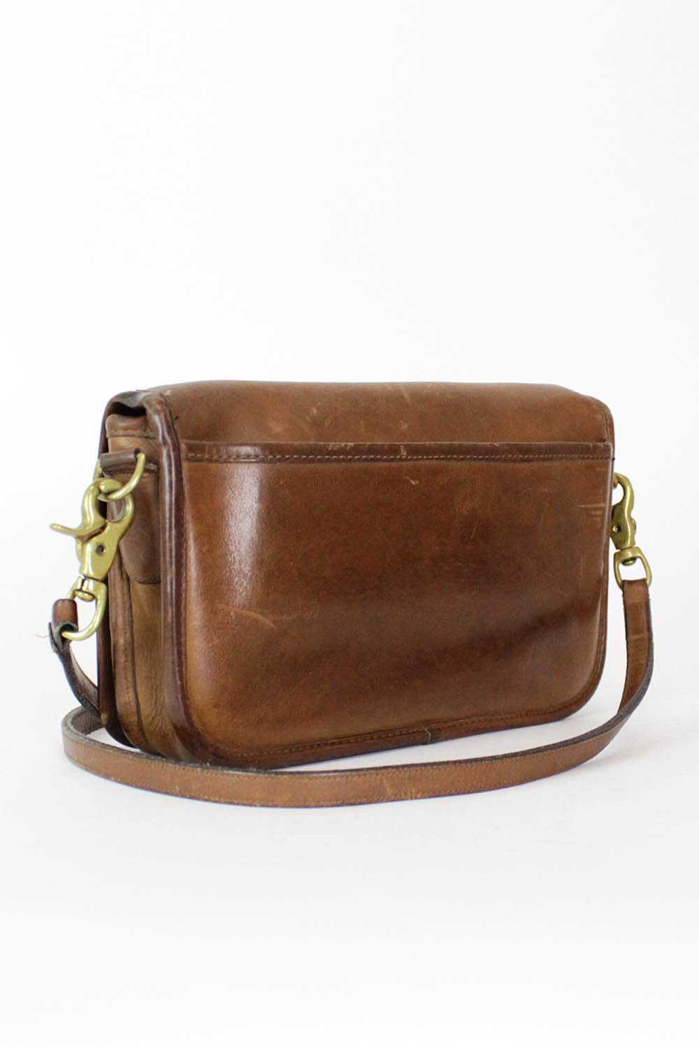 70s Coach Chestnut Leather Crossbody