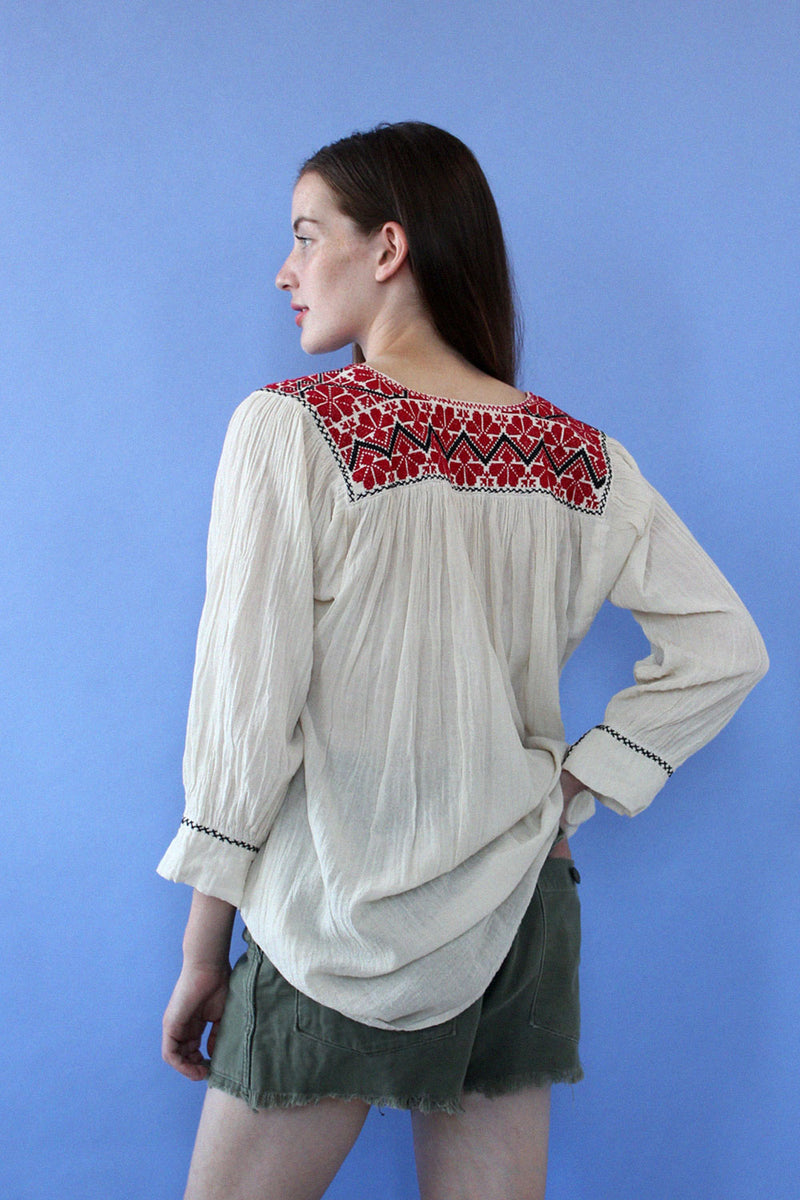 Embroidered Folk Tunic S-L
