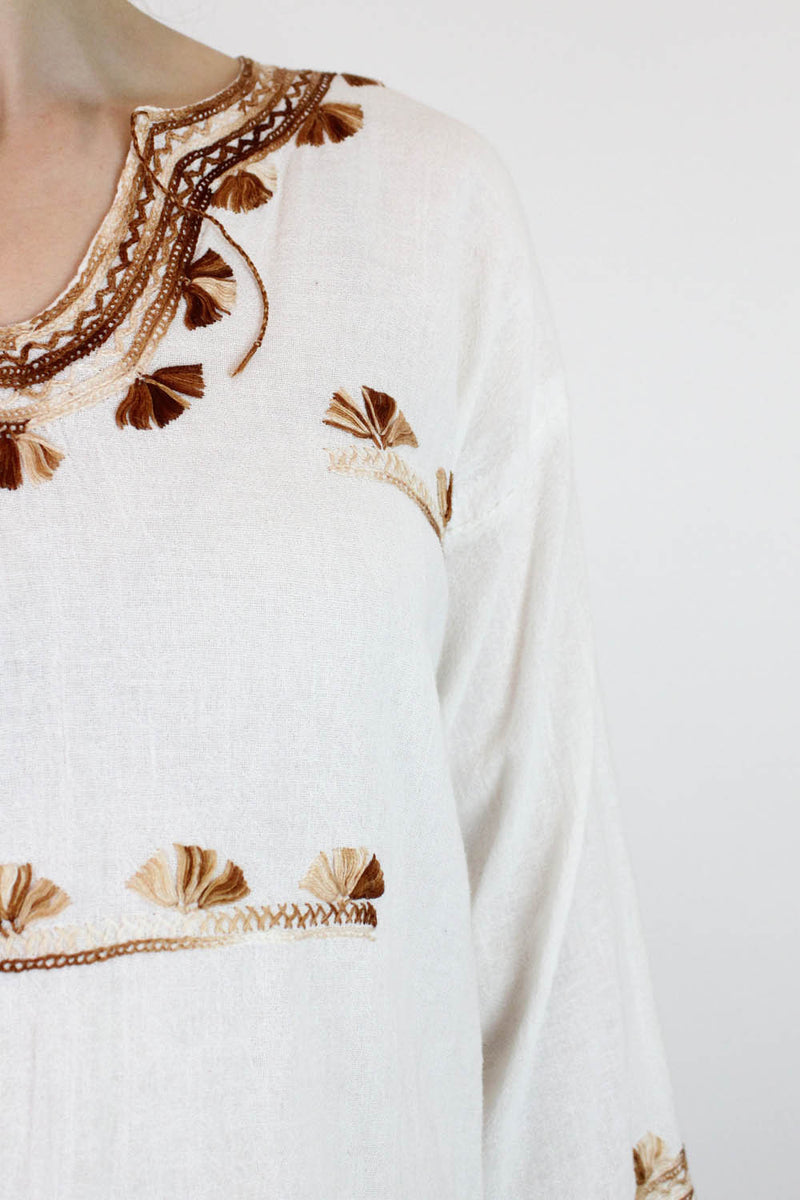 embroidered top detail