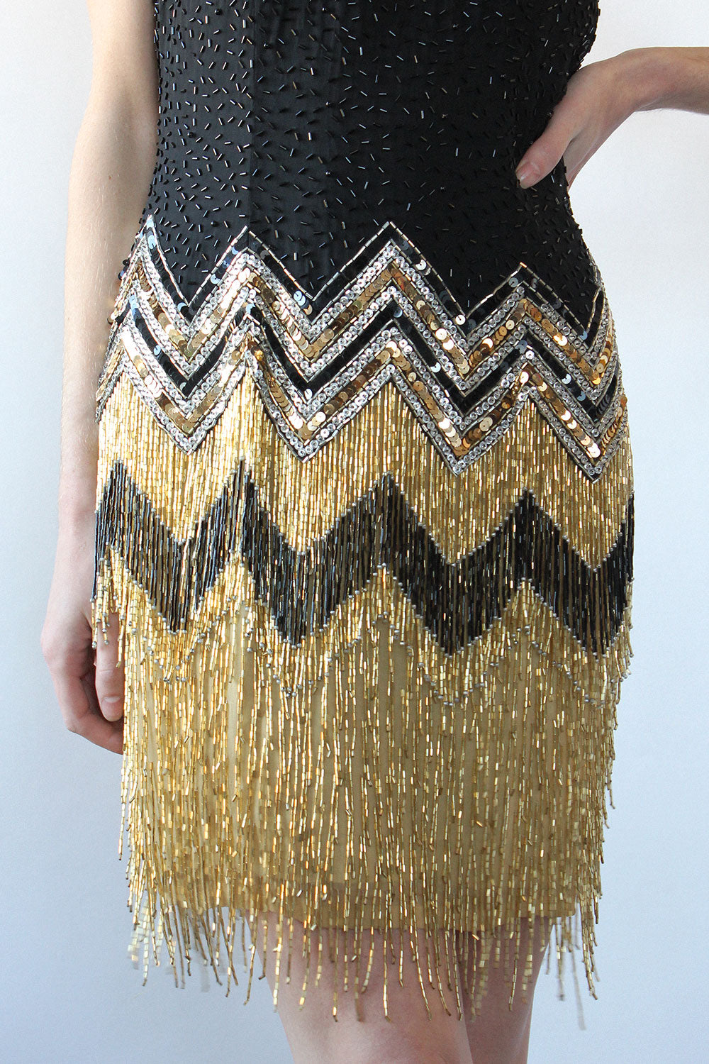 Adelaide Beaded Party Dress M