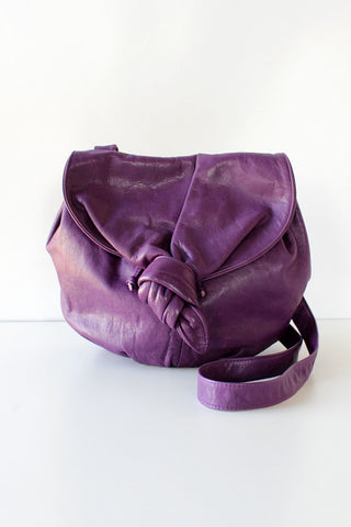 Grape Leather Knot Bag