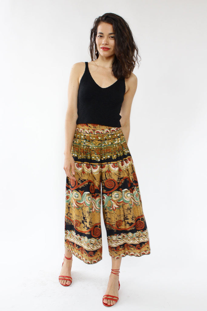 Painterly Gaucho Pants S/M