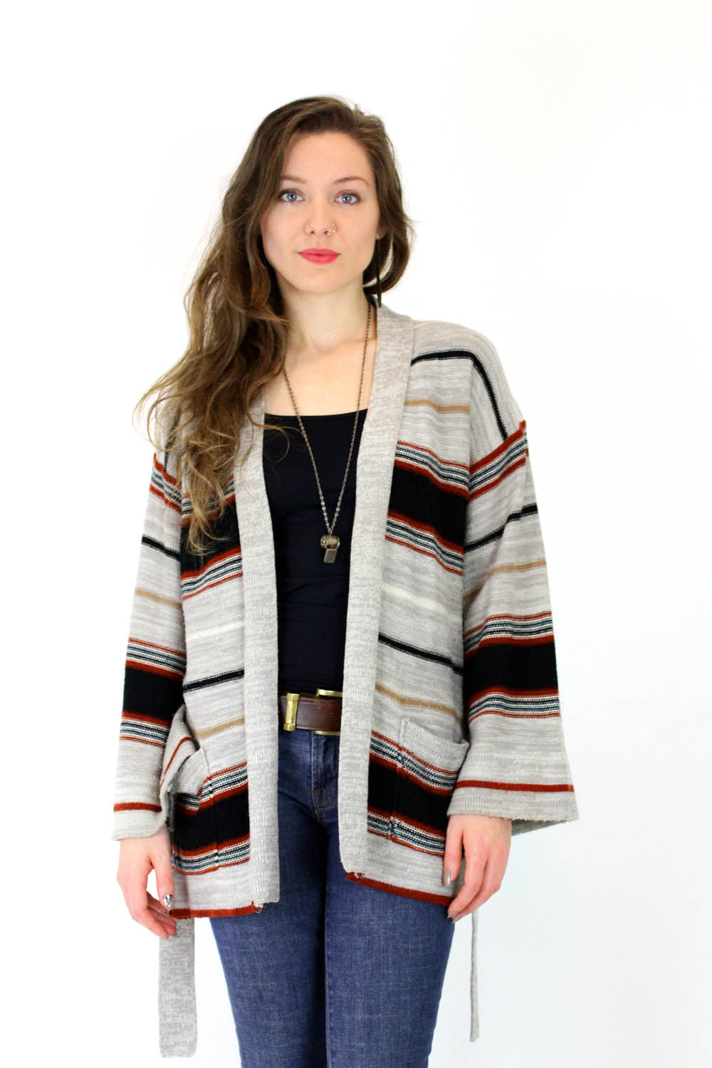 vintage striped cardigan