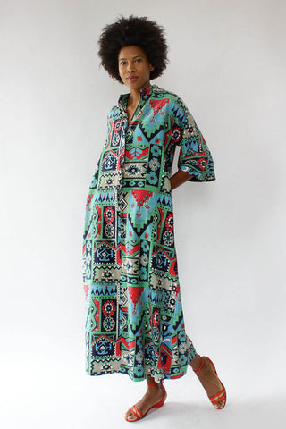 Evelyn Pearson Cotton Carpet Caftan