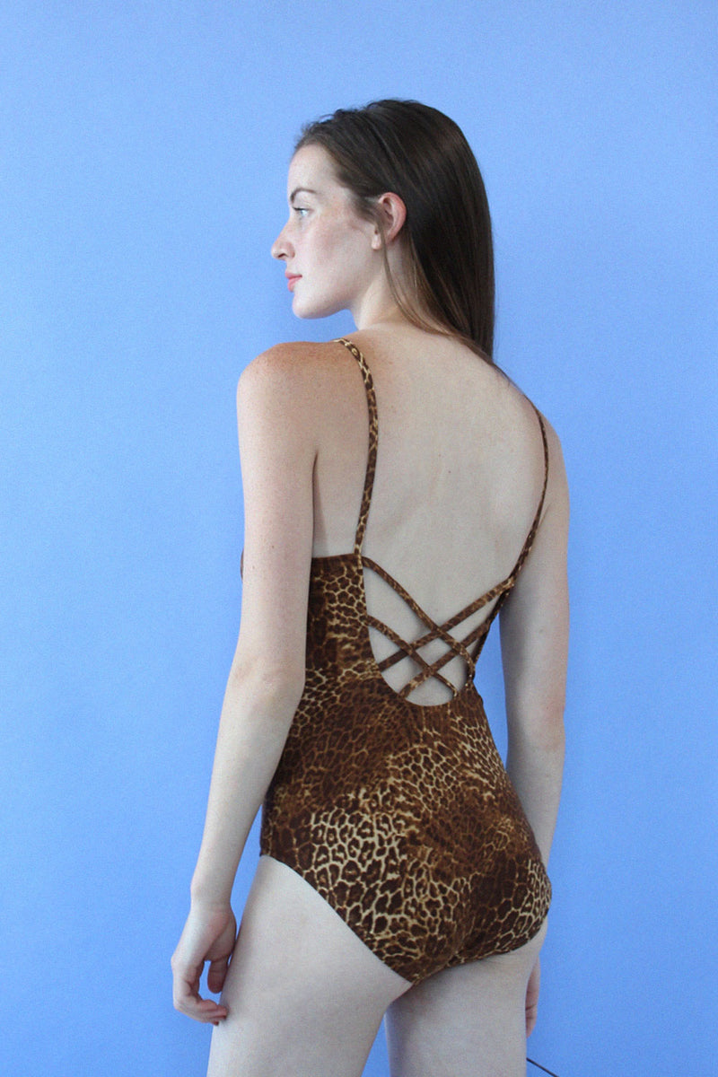 Cheetah Crossback One-piece M/L