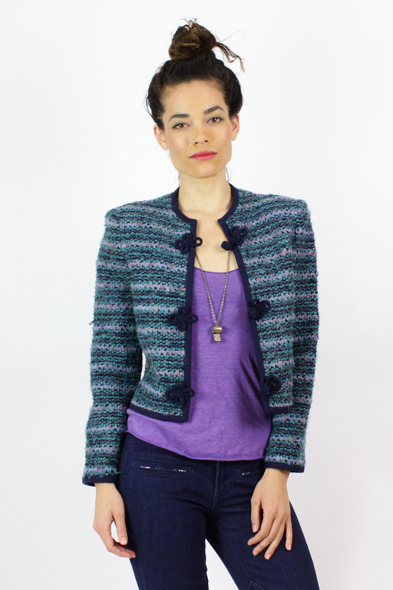 Boucle Cropped Sweater Jacket S