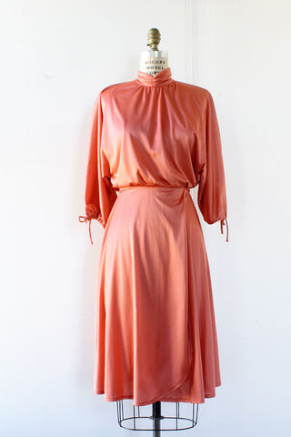 Rose Pink Slit Sleeve Dress XS/S