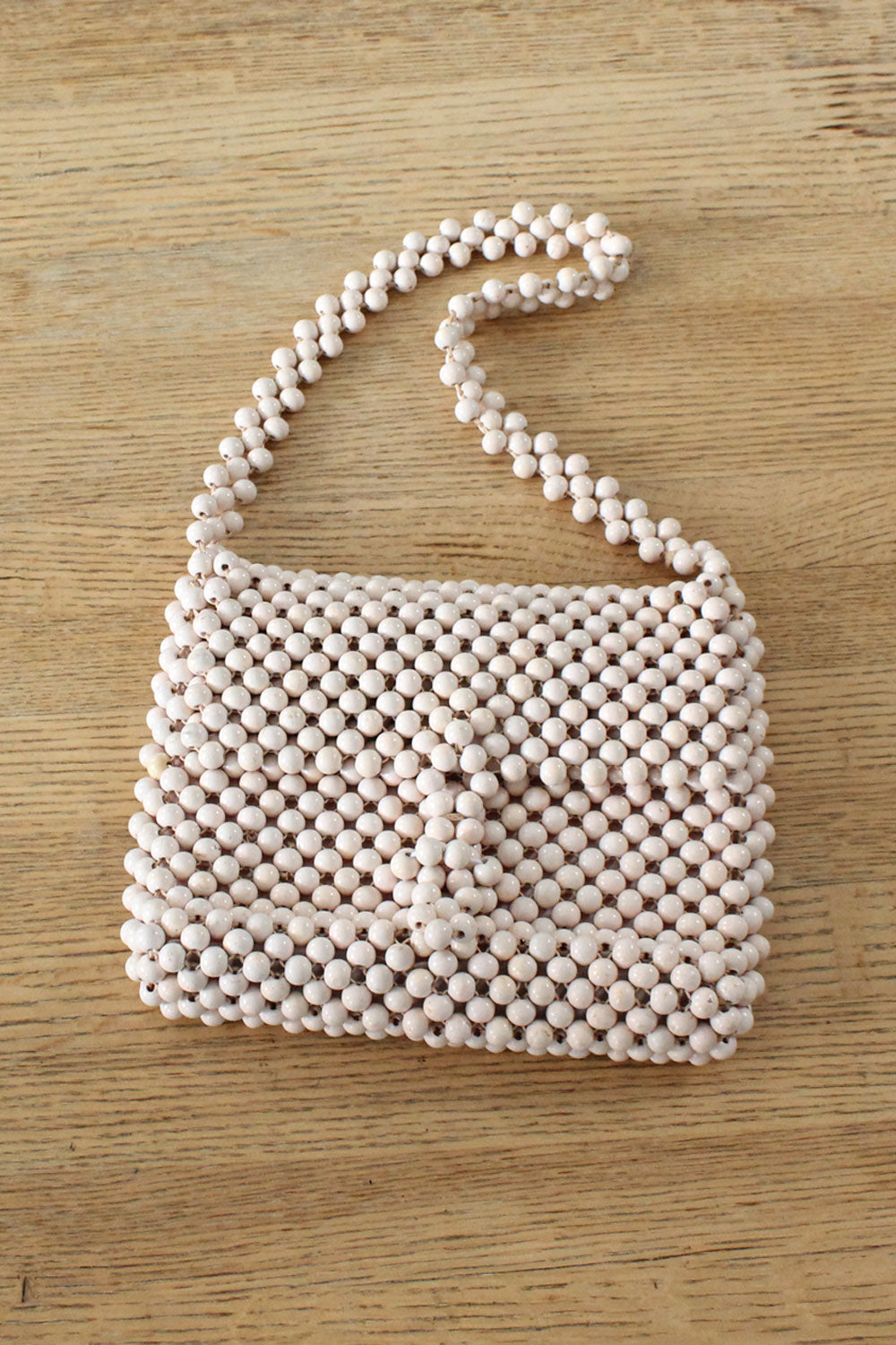 French Vanilla Beaded Purse