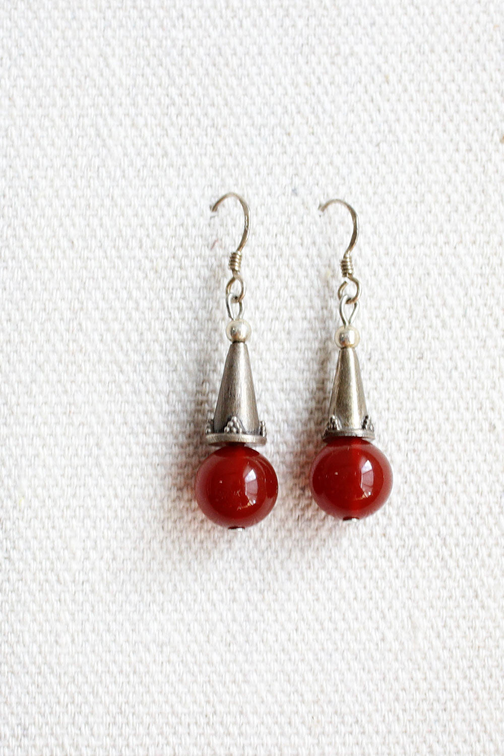 Agate Ball Earrings