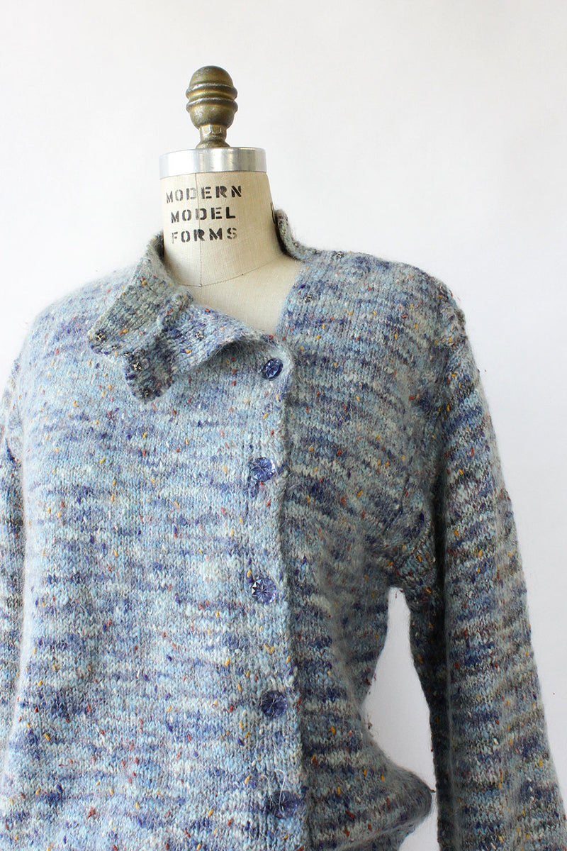 Speckled Mohair Crystal Sweater