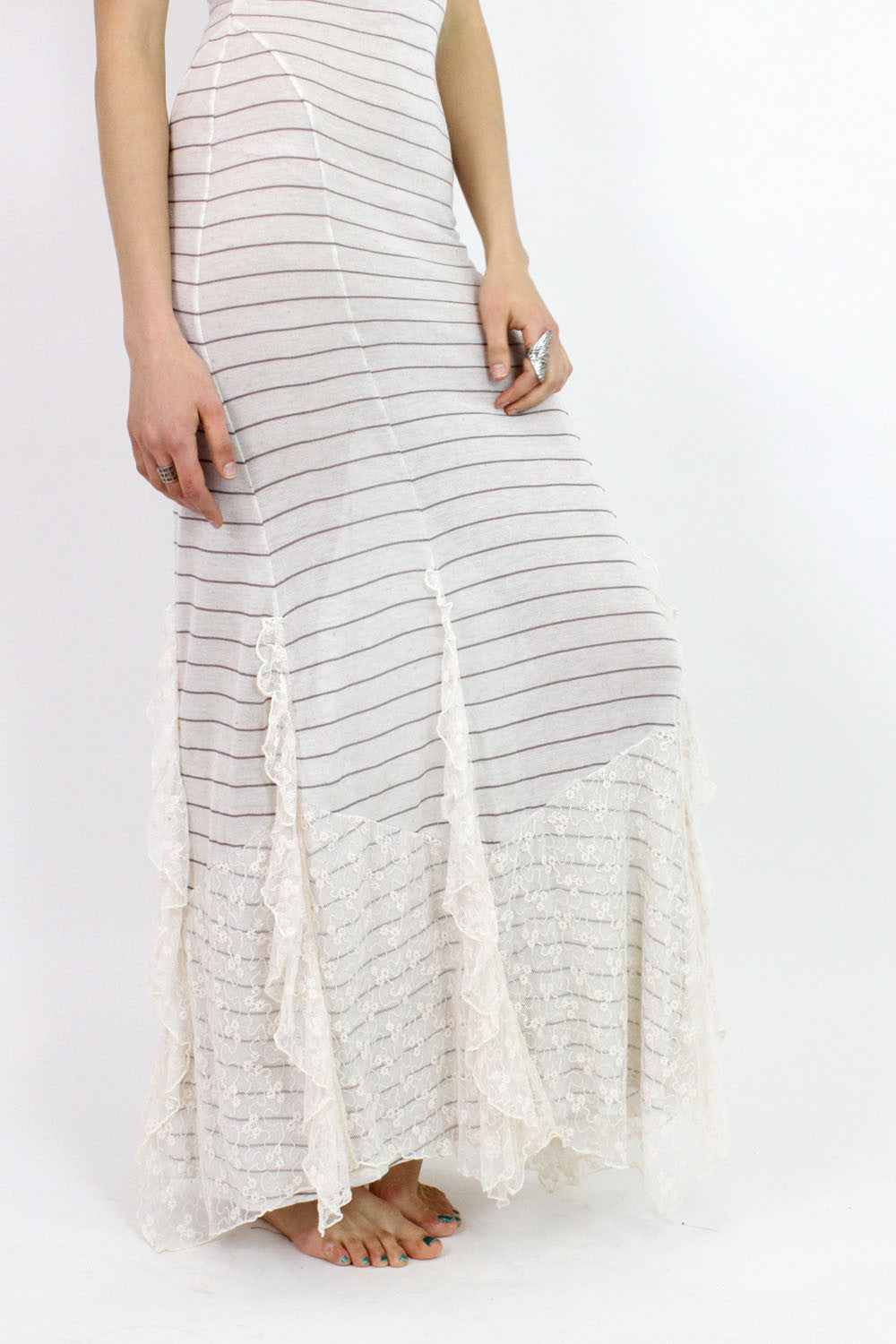 free people lace ruffle dress