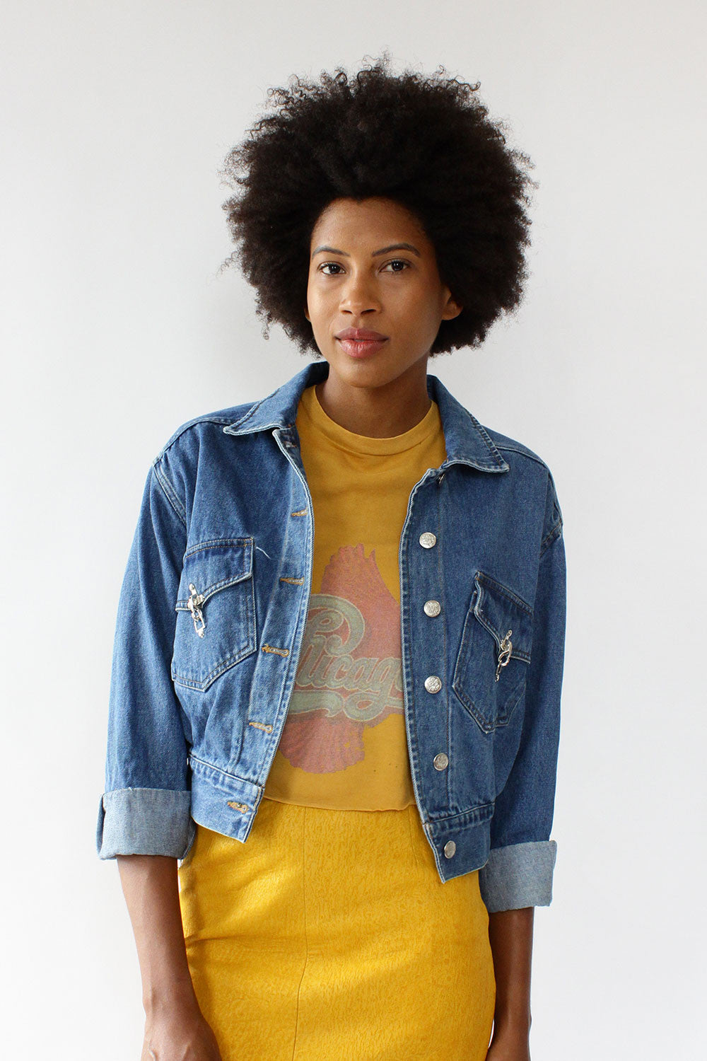 East West Denim Crop Jacket XS/S/M