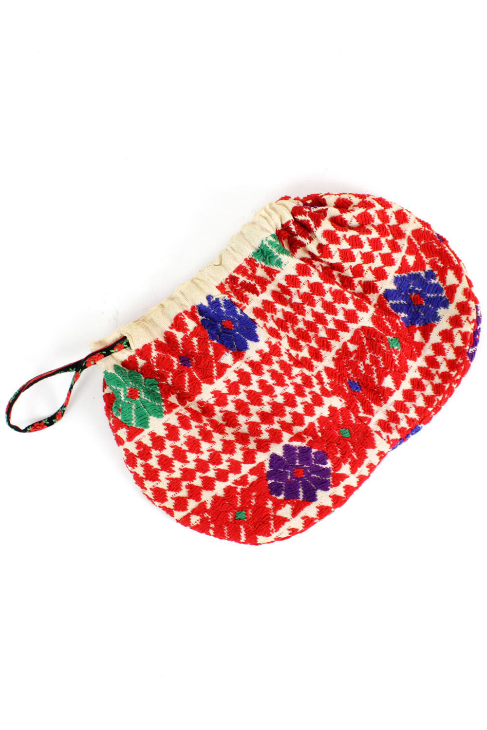 embroidered cinch pouch