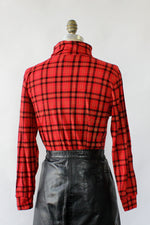 Red Plaid Turtleneck S/M