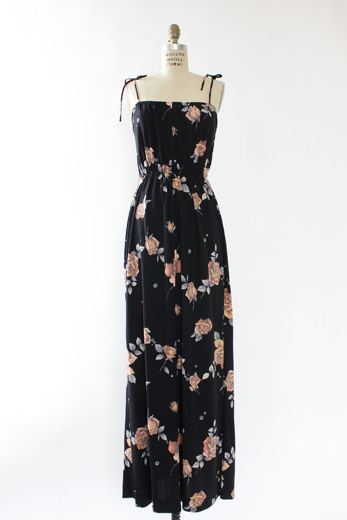 Rose & Raindrop 70s Maxi Dress M