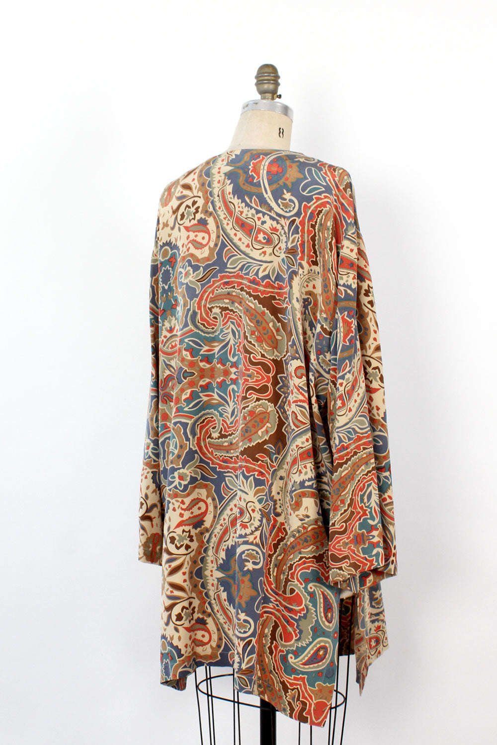 Patterned Silk Tunic Duster