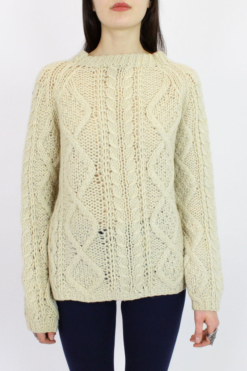 SALE... Fisherman Sweater M