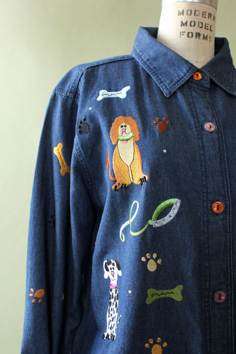 Dog Party Denim Shirt S-L