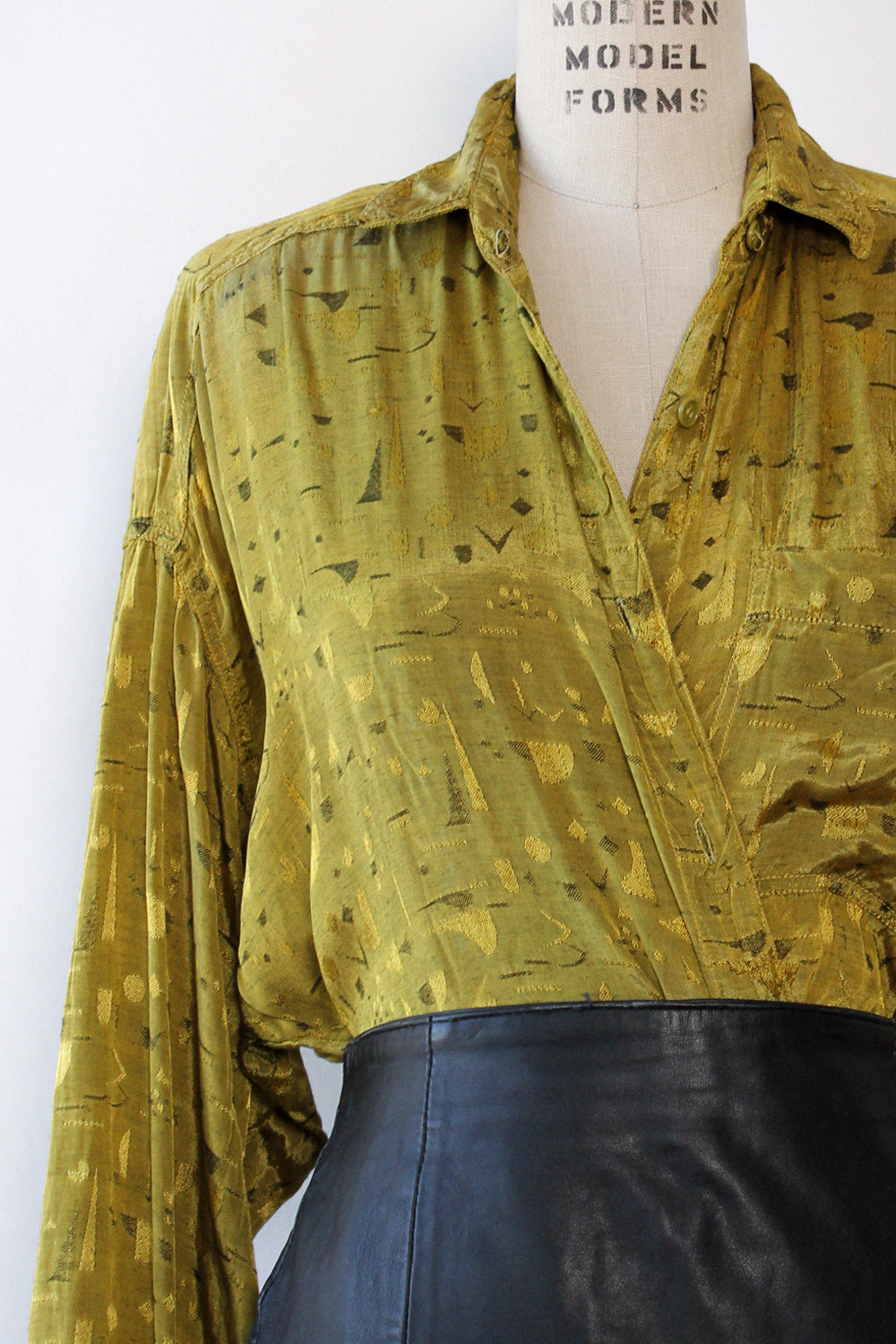 Chartreuse Atomic Buttondown S/M