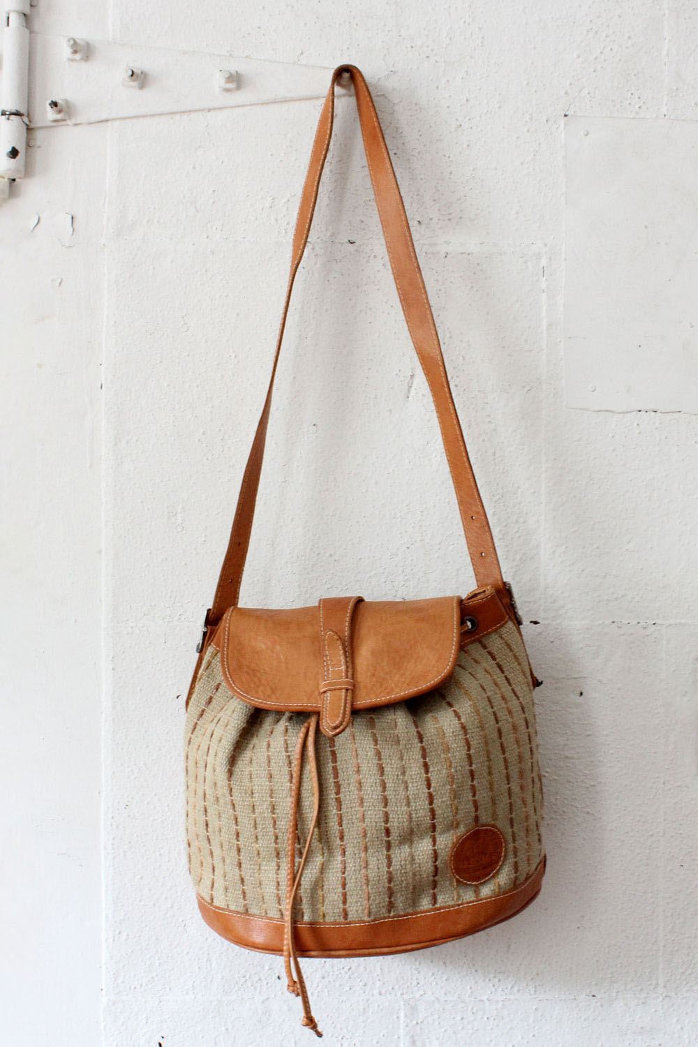 Earthbags Honey Leather Woven Bag