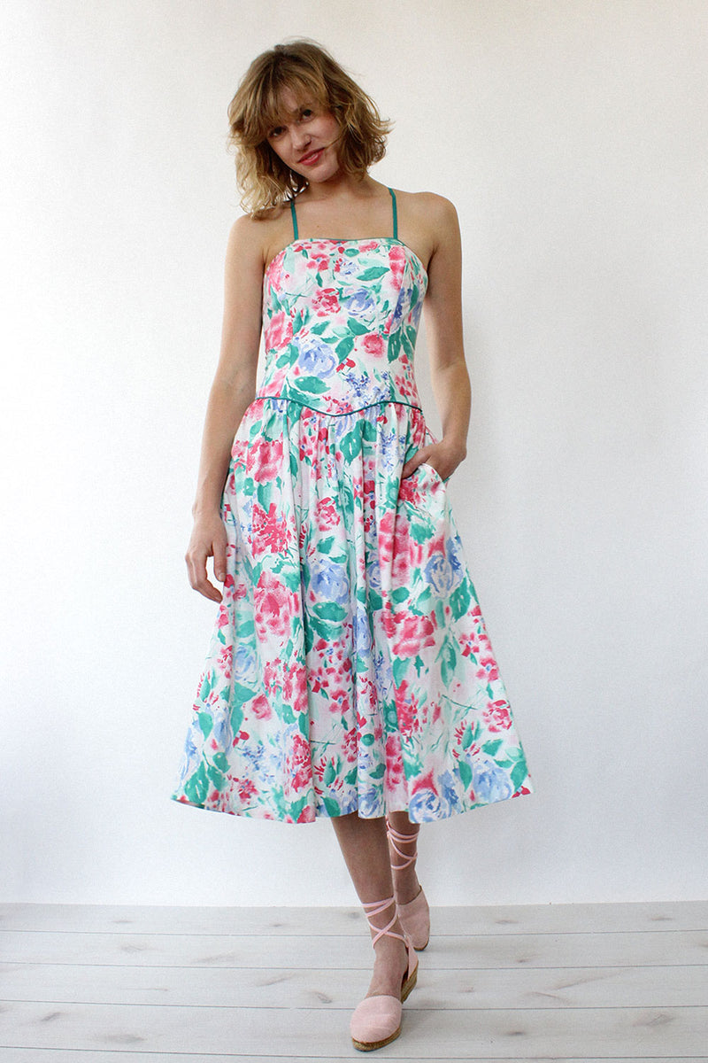 Open Back Floral Sundress S