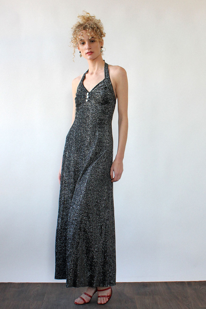 Twinkling Halter Maxi Dress S/M