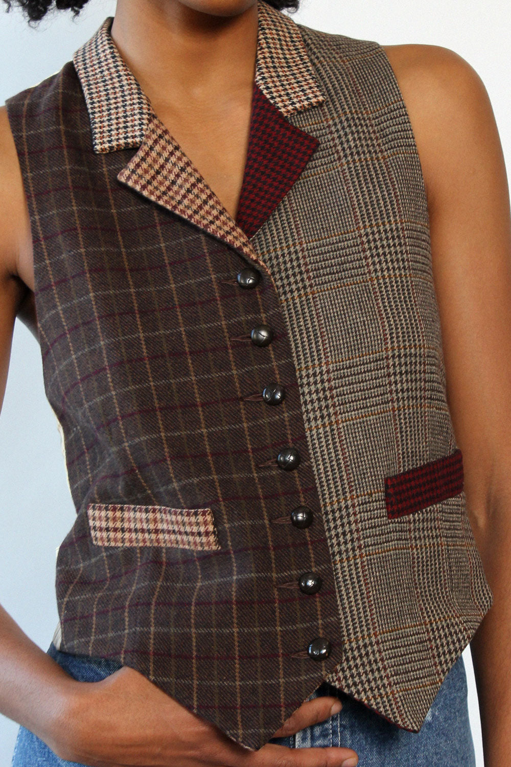 Tweed Collage Vest M