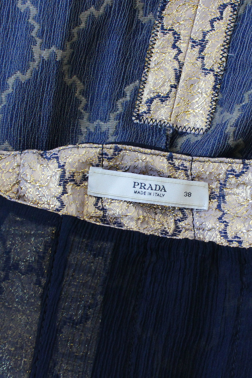 Prada Golden Brocade Skirt S