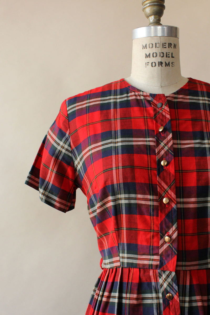 Plaid Picnic Dress M
